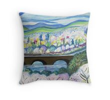 Free Bridge Spring Throw Pillow