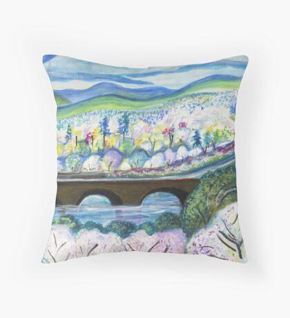 Free Bridge Spring Throw Pillow