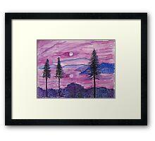 Magenta Sunset Framed Print
