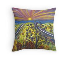 Road to Schuyler Throw Pillow