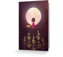 A Little Night Wanderer Greeting Card