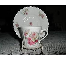 Tea Cup On Stand Photographic Print