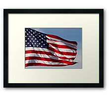 Old Glory Flies Framed Print