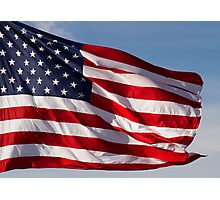 Old Glory Flies Photographic Print