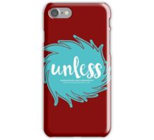 Unless Someone Like You - Teal iPhone Case/Skin