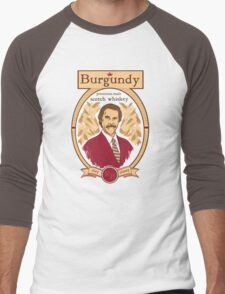 Burgundy Scotch Men's Baseball ¾ T-Shirt