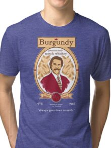 Burgundy Scotch Tri-blend T-Shirt