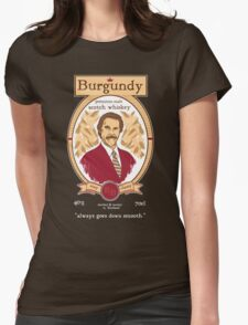 Burgundy Scotch Womens Fitted T-Shirt