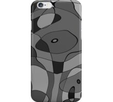 Grey Abstract Case iPhone Case/Skin