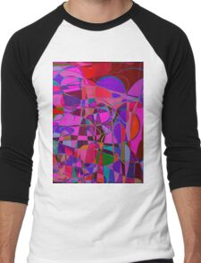 1017 Abstract Thought Men's Baseball ¾ T-Shirt