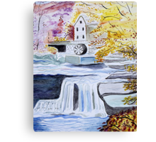 Mill Stream Canvas Print