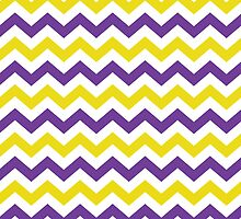 Purple and Gold Chevron Pattern by StudioBlack