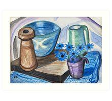 Still Life with Ceramics Art Print