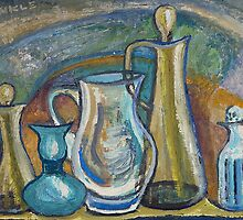 Still Life with Decanters by lorikonkle