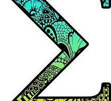 Sigma Letter Doodle by trendysticks