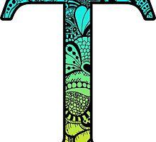 Tau Letter Doodle by trendysticks