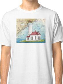Pt Wilson Lighthouse WA Nautical Chart Cathy Peek Classic T-Shirt