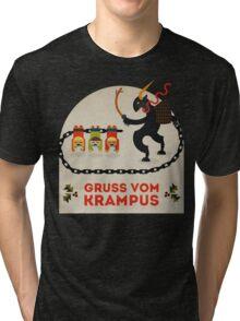 Gruss vom Krampus Tri-blend T-Shirt