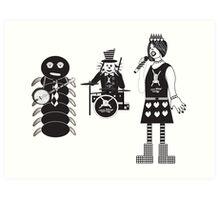 Punk Alice in Wonderland Characters Art Print