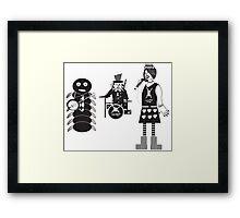 Punk Alice in Wonderland Characters Framed Print