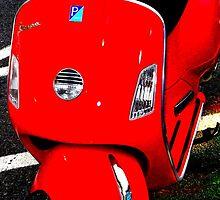 Red Vespa - Angular Crop by Amanda Vontobel Photography/Random Fandom Stuff
