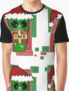 Minecraft Christmas Creeper  Graphic T-Shirt