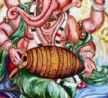 Ganesha Dancing and Playing Mridang Sticker