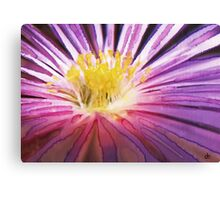 Purple Flower Watercolour Canvas Print