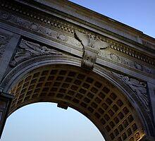 Washington Square Park Arch - Angular Crop by Amanda Vontobel Photography