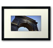 Washington Square Park Arch - Angular Crop Framed Print