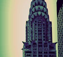 Chrysler Building - Angular Crop by Amanda Vontobel Photography