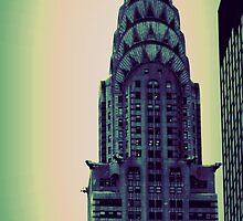 Chrysler Building - Angular Crop by Amanda Vontobel Photography