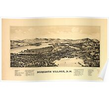 Panoramic Maps Meredith Village NH Poster