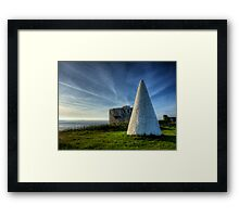 Navigation marker & Fort Tourgis on Alderney Framed Print