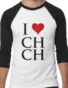 I Love Christchurch Men's Baseball ¾ T-Shirt
