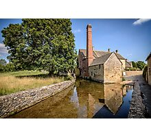 The old mill in Lower Slaughter Photographic Print