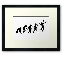 Evolution of Man and Volleyball Framed Print