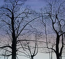 Twilight Trees Painting by James Lauder