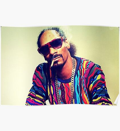 Snoop Dogg Smoking a Blunt Poster