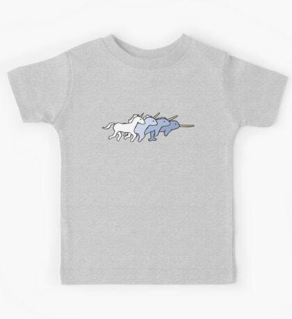 Unicorn Narwhal Evolution Kids Tee