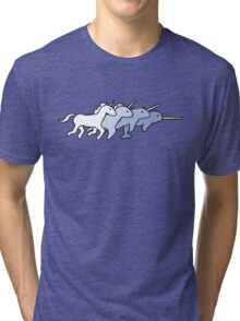 Unicorn Narwhal Evolution Tri-blend T-Shirt