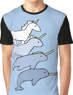 Unicorn Narwhal Evolution Graphic T-Shirt