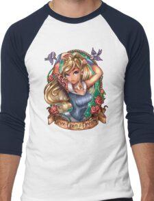 Once Upon A Dream (blue dress) Men's Baseball ¾ T-Shirt