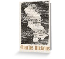 Charles Dickens Works Illustration Greeting Card