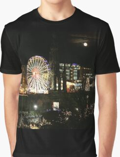 Edinburgh at Christmas and New Year Graphic T-Shirt