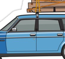 Volvo 245 Brick Wagon 200 Series Blue Shopping Wagon Sticker