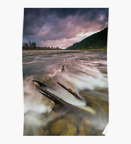 Storm clouds at dusk Poster