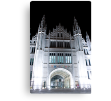 Marischal College At Night. Canvas Print