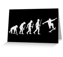 Evolution of Man and Skateboarding Greeting Card