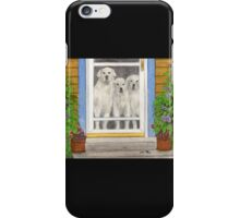 Great Pyrenees Dogs Porch Cathy Peek Animals iPhone Case/Skin